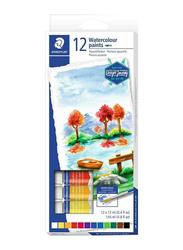 Staedtler Design Journey Water Colour Paint Set, 12 Pieces x 12ml, Multicolour