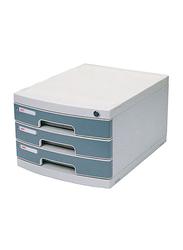 Deli 3 Layer File Cabinet, White