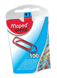 Maped Colored Clips, 100 Pieces, Multicolor