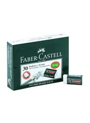 Faber-Castell 30-Piece PVC Free Eraser Set, White