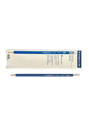 Staedtler 12-Piece Norica HB2 Pencil Set, with Eraser Tip, Blue