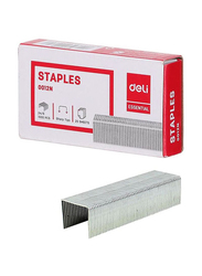 Deli Zinc Plated Iron Staples, 1000 Pieces, Silver
