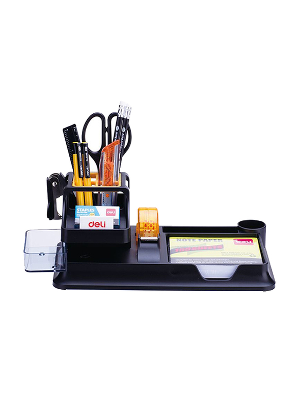 Deli Desk Organizer with Contents, Black