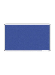 Metal Frame Notice Board, Blue/Silver