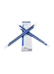 Staedtler 12-Piece Norica Pencil Set with Rubber, Blue