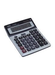 Deli 12-Digit Basic Calculator, Dl-1654, White/Black