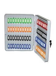 Partner 100-Hooks Portable Key Ring Storage Box, Grey