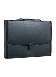 Deli A4 Trunk Binder Pocket File, Black
