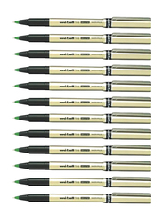 Uniball 12-Piece Fine Deluxe Rollerball Pen Set, Gold/Black/Green