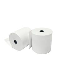 Pos Thermal Paper Machine Printer Roll, 80 x 80mm, White