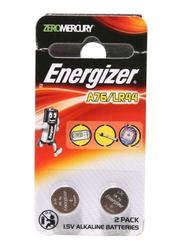 Energizer 2-Piece Coin Alkaline Batteries, A76-LR44, Silver