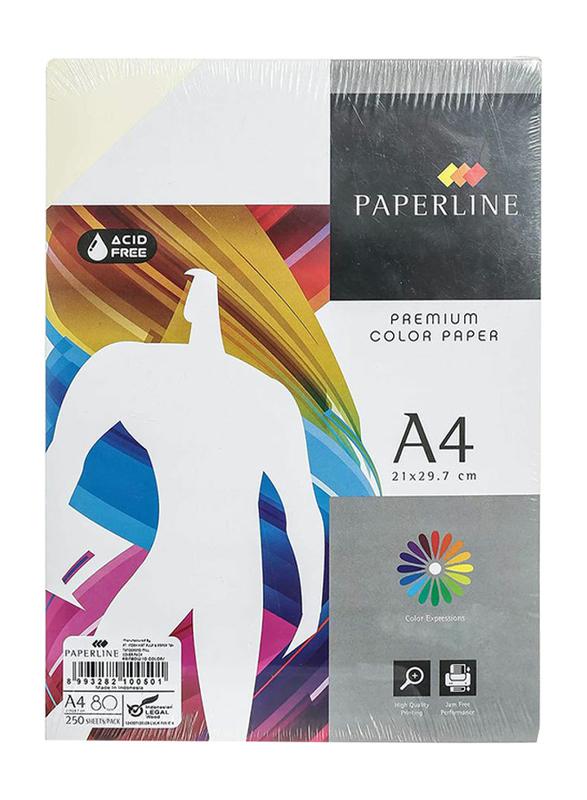 Paperline Premium Rainbow 80GSM Printer Paper, 21 x 29.7cm, 250 Sheets, A4 Size, Multicolor