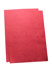 Partner Embossed Binding Sheet, 100 Pieces, A3 Size, Red