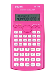 Deli Multifunctional Scientific Calculator, Pink