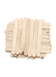 50-Piece DIY Handmade Ice Cream Sticks, Wood Beige Color