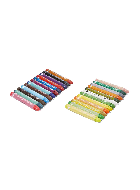 Faber-Castell Jumbo Wax Crayon Set, 24 Pieces, Multicolour