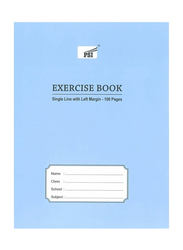 PSI Single Line Exercise Notebook, 100 Pages, Blue