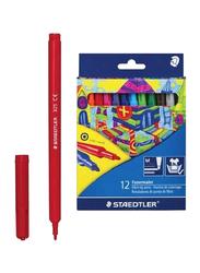 Staedtler 12-Piece Washable Colour Marker Set, Multicolour