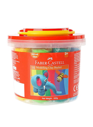 Faber-Castell Modelling Clay Bucket Set, 10 Pieces, Multicolour