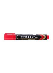 Deli Mate U102 Permanent Marker, Bullet Red