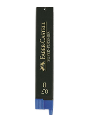 Faber-Castell 12-Piece Super-Polymer Mechanical Pencil Lead Set, Black