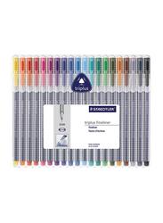 Staedtler 20-Piece Triplus Fineliner Pen Set, Multicolour