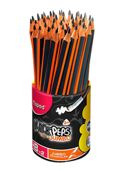 Maped 46-Piece HB Pencil Set with Pot, Orange/Grey