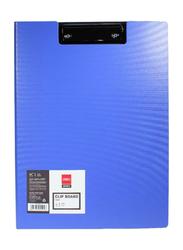 Deli Plastic Clip Board, Blue/Black