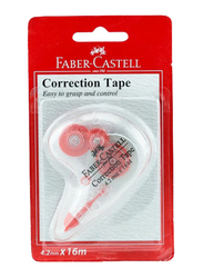 Faber-Castell Correction Tape, 4.2mm x 16m, White