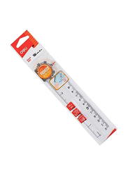 Deli Pioneer Educational Ruler, Clear/Black