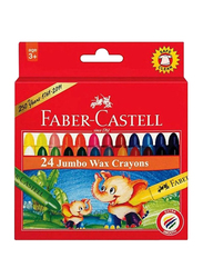 Faber-Castell Jumbo Wax Extra Smooth Crayon Set, 24 Pieces, Multicolor