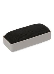 Deli White Board Eraser, White/Black