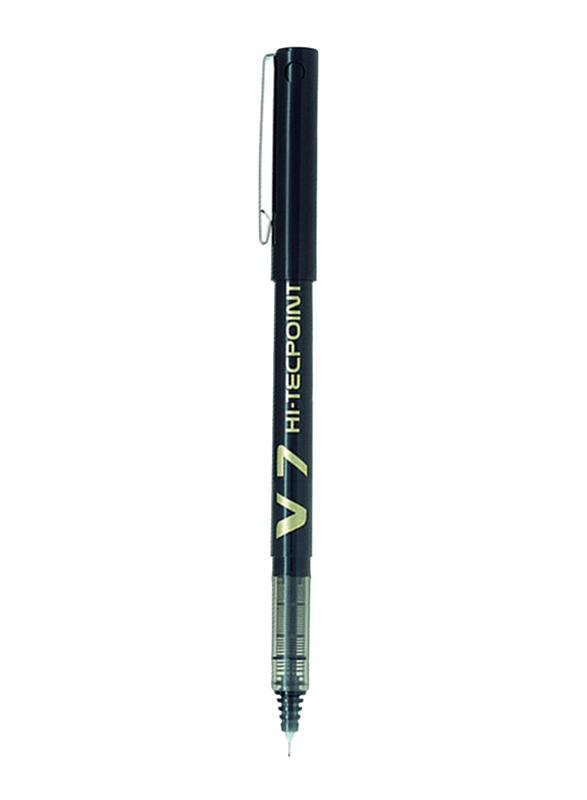 Pilot 12-Piece V7 Hi-TechPoint Rollerball Pen, Black