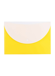 Deli 2-Pocket Button File, 10 Pieces, A4 Size, Yellow
