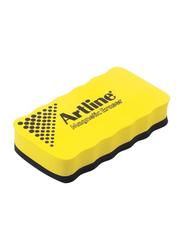 Artline Magnetic White Board Eraser, Yellow
