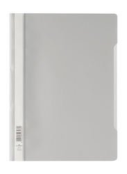 Durable Clear View File Folder, Grey