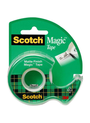Scotch Magic Tape with Dispenser, Clear/Green