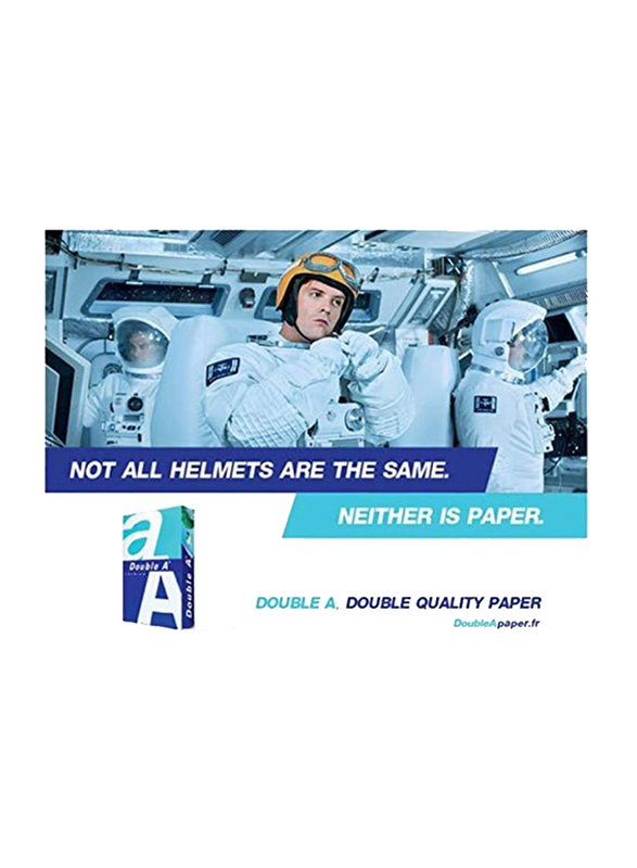 Double A Premium 80GSM Printer Paper, 2500 Sheets, A4 Size, White