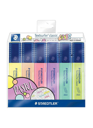 Staedtler 6-Piece Textsurfer Classic Highlighter Pen, ST-364-CWP6, Multicolor