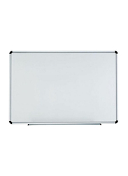 Deli Magnetic White Board with Aluminum Frame, 90x120cm, White