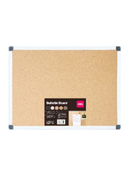 Deli Cork Board with Aluminum Frame, 9 x 120cm, Green/Beige