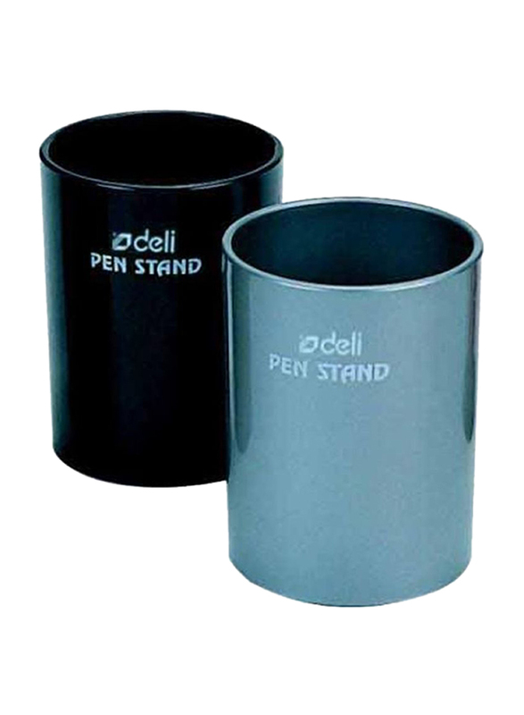 Deli Round Pen Stand, 2 Pieces, Black/Blue