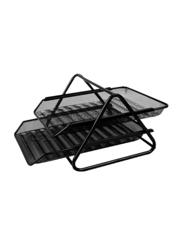 Deli 2-Floor Multipurpose Office Drawer Organizer, Black