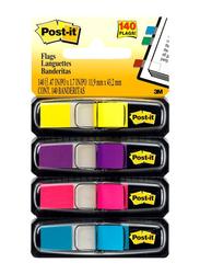 3M 140-Piece Post-it Tape Flags Bright, Multicolor