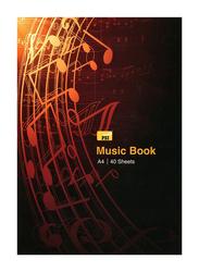 PSI A4 Size Music Book, 40 Sheets, Multicolour