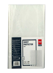 Deli Sheet Protector, 100 Pieces, Clear