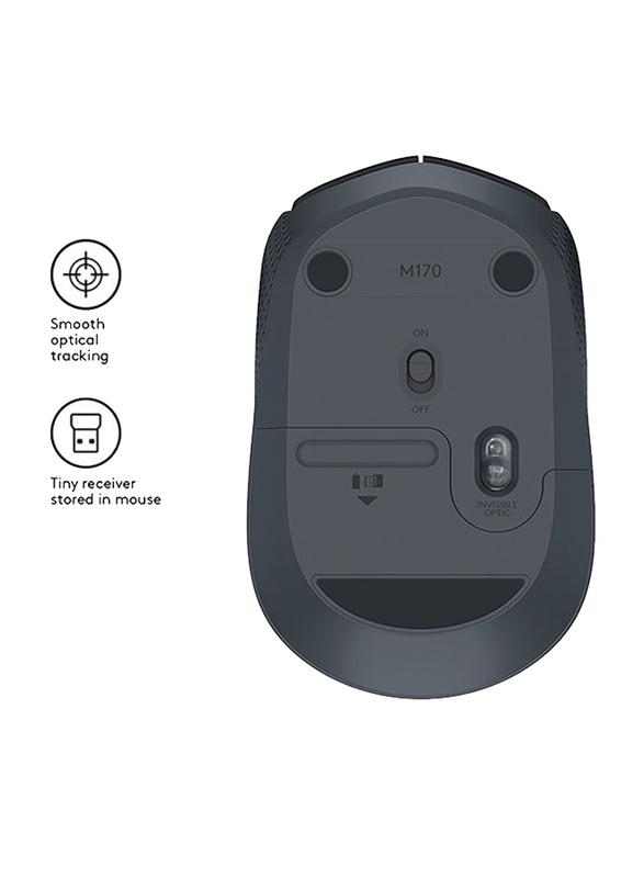 Logitech M171 Wireless Optical Mouse, Black
