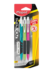 Maped 3-Piece Soft Touch Mechanical Pencil Set, Black