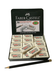 Faber-Castell 30-Piece Pencil Eraser Set, White