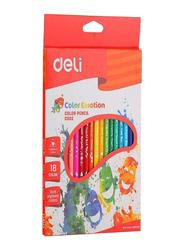 Deli 18-Piece Color Emotion Pencil Set, Multicolor